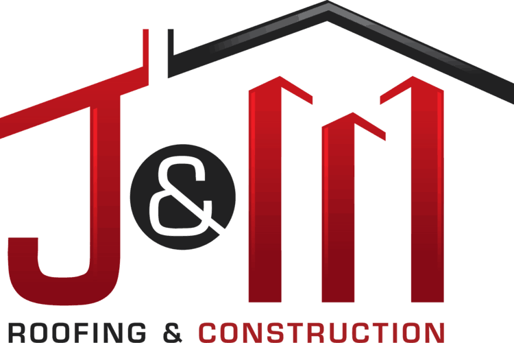The logo for Tahlequah remodeling company, J & M Roofing & Construction